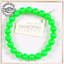 Bracelet with Swarowski pearls 8mm, Neon Green